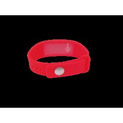 Bracelet distributeur de gel désinfectant - rouge L