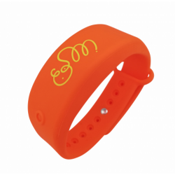 Bracelet distributeur de gel désinfectant - orange S/M