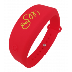 Bracelet distributeur de gel désinfectant - rouge L