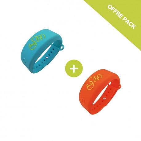 Pack Bracelets distributeur de gel désinfectant - Adulte - Taille L