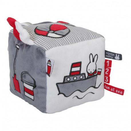 Cube d'activité Miffy - Marinière Gris Rayé