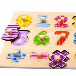 Puzzle en bois 3 ans chiffres