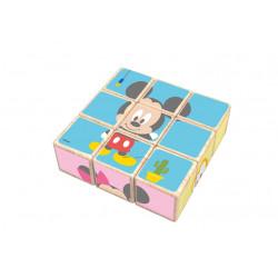 Puzzle 9 cubes en bois Mickey - 6 puzzles