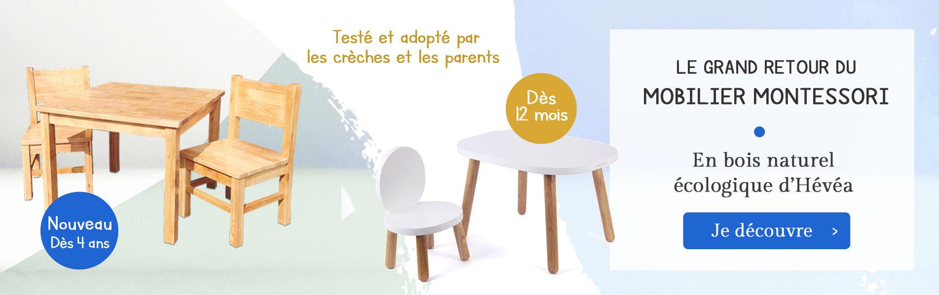 Le retour du mobilier montessori