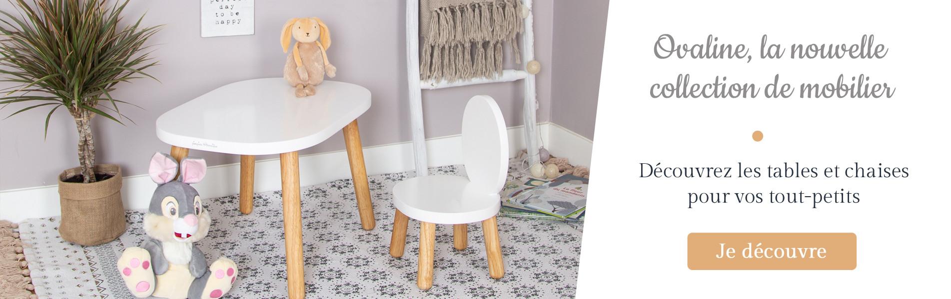 Ovaline Nouvelle collection de tables et chaises bébé