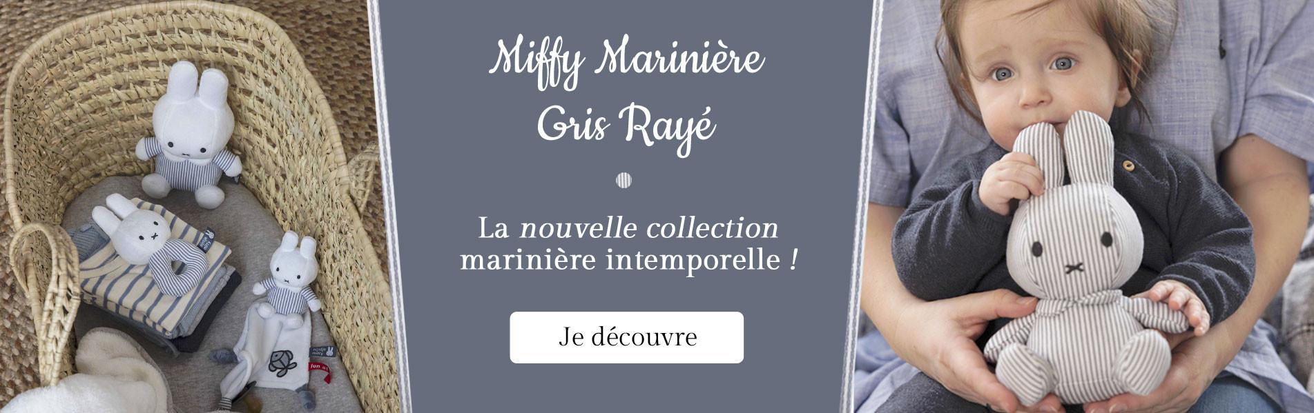 Nouvelle collection Miffy Marinière Gris Rayé