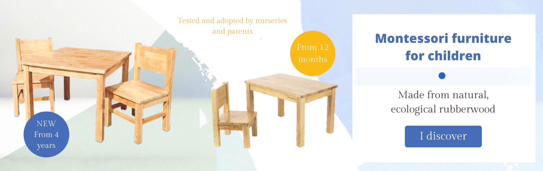 Mobilier Montessori pour enfants